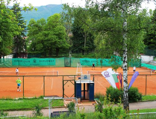 Play tennis in the outskirt of Vitosha Mountain